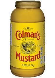 colman mustard colman s original mustard 2 5 kg 2 25 l jar unilever