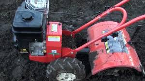 how to use a tiller or rotary hoe in the backyard youtube