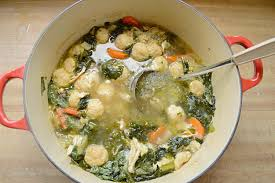 cooks illustrated italian chicken soup with parmesan dumplings