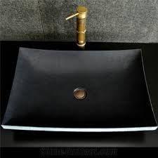 black stone bathroom sink black granite natural stone bathroom wash basins from china