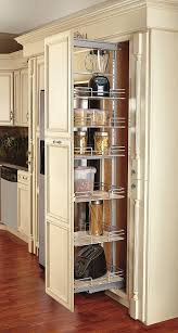 cabinet pull out shelves kitchen pantry storage rev a shelf 9 in pullout maple pantry sc