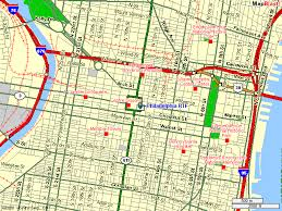 map of philly philadelphia pa map