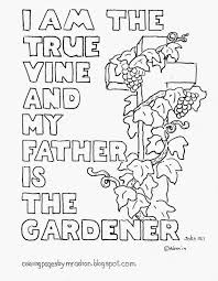 coloring pages for kids by mr adron i am the true vine coloring