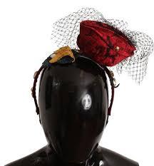 fruit headband black silk brocade bow fruit headband gethuda fashions