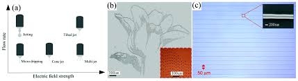 micro nanoscale electrohydrodynamic printing from 2d to 3d