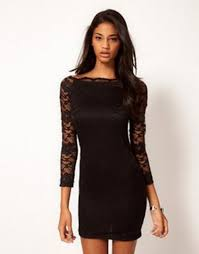 sleeve black dress happyday lace bodycon dress white and black available online