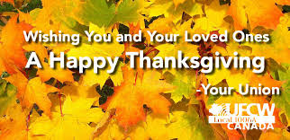 happy thanksgiving to you and your loved ones from your union
