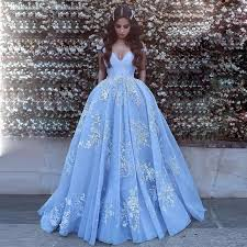 blue wedding dresses gorgeous light blue the shoulder gown prom dress wedding