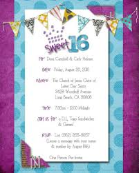 Sweet 16 Birthday Invitation Cards Sweet 16th Birthday Invitations Templates Free Drevio