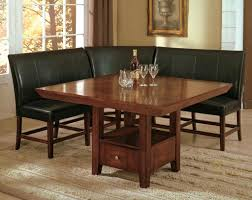 corner bench seat kitchen table of also dining room leather wood