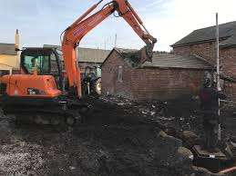 Flagging Liverpool New Drainage System Barn Conversion In Maghull Liverpool Pjc