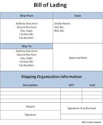 Bill Of Lading Template Excel Excel Bill Of Lading Template Bill Of Lading Document Selimtd