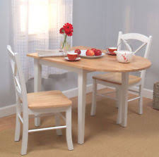 Drop Leaf Table Sets Kitchen Dining Set Table Chairs Folding Drop Leaf White Small