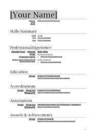 Resume Doc Templates How To Format A Resume In Word Teacher One Page Resume Word Free