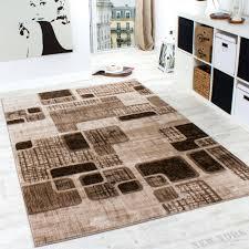 teppiche wohnzimmer designer teppich wohnzimmer teppich retro muster in braun beige