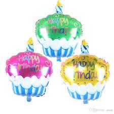 birthday helium balloons birthday cake candle air balls helium foil balloons happy birthday