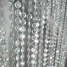 J Crew Crystal Beaded Chandelier Crystal Bead Curtain Hanging Decor From Www Partymill Com Room