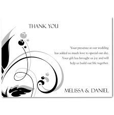 thank you card for wedding gift sle thank you cards for wedding gifts wedding