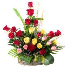 24 best gifts to mumbai expressive 24 mixed roses in a basket to mumbai maharastra send