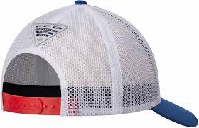 American Flag Snapback Hat Columbia Pfg Usa Flag Mesh Snap Back Ball Cap Tackledirect