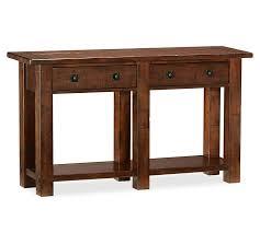 Mahogany Console Table Benchwright Console Table Rustic Mahogany Pottery Barn