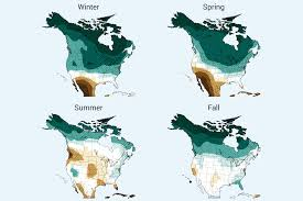 North America Precipitation Map by Precipitation Change National Climate Assessment
