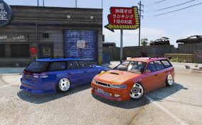 custom subaru hatchback subaru legacy wagon bg5 replace template gta5 mods com