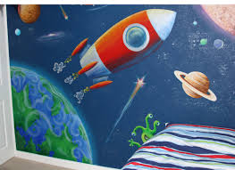 alice on the wall outer space mural