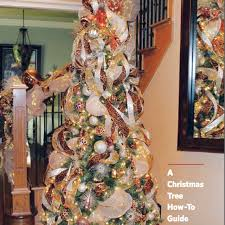 christmas trees with mesh ribbon guide to inserting ribbon