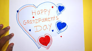 happy grandparents day greeting drawing for kids youtube
