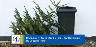avoid fly tipping when disposing of your christmas tree blog