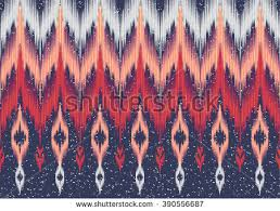 Traditional Design Geometric Ethnic Oriental Ikat Pattern Traditional Stock Vector