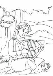 david playing his harp i e i samuel 16 19 coloring bible ot