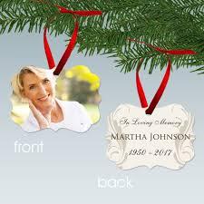 loving memory personalized memorial photo ornament