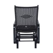 aosom outsunny outdoor antique aluminum wicker gliding chair