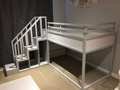 Ikea Kura Bunk Bed Ikea Kura Bed With Fabric Spray Glued To The Panels We Added