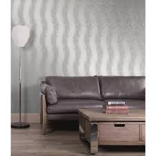 Home Wallpaper Decor by Decor Decorline Wheaton Silver Leaf Wave Wallpaper 2735 23340
