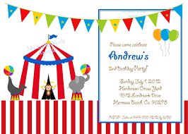 2nd Birthday Invitation Card Circus Birthday Invitation Circus Invitation Carnival Cards