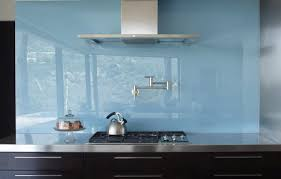 Blue Glass Kitchen Backsplash Try The Trend Solid Glass Backsplashes Porch Advice