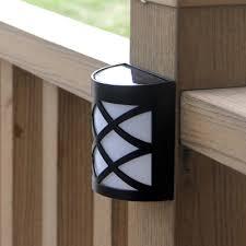 solar led deck step lights outdoor black solar powered deck step light with 6 led