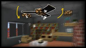minecraft how to make working ceiling fans youtube