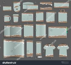 stationery template design set torn paper stock vector 279225152