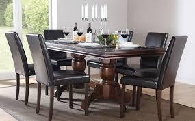 dark wood dining room tables dark wood dining table and chairs adorable dark wood dining table