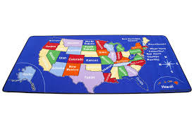 Daycare Rugs For Cheap Amazon Com Learning Carpets Us Map Carpet Lc 201 Toys U0026 Games