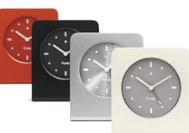 desk alarm clock contemporary clock analog desk aluminum ac 01 alarm clock