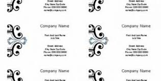 business card template word 2010 template for business cards in