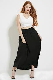 plus size belted maxi skirt forever 21 plus 2000172868 plus