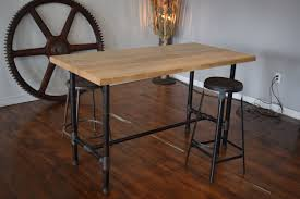 butcher block kitchen table diy butcher block table pipe legs table designs