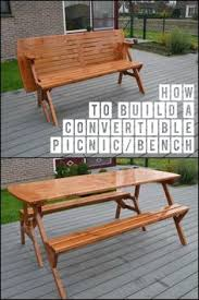 convertible bench picnic table plans wooden folding picnic table