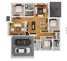 40 awesome 3d apartment house plans architecture u0026 design